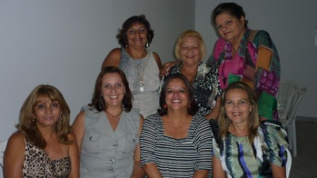 Graça Gonçalves com Rose Fonseca, Márcia Carneiro, Francimary Leão, Beth Alho, Giselle Alho e Suely Matos