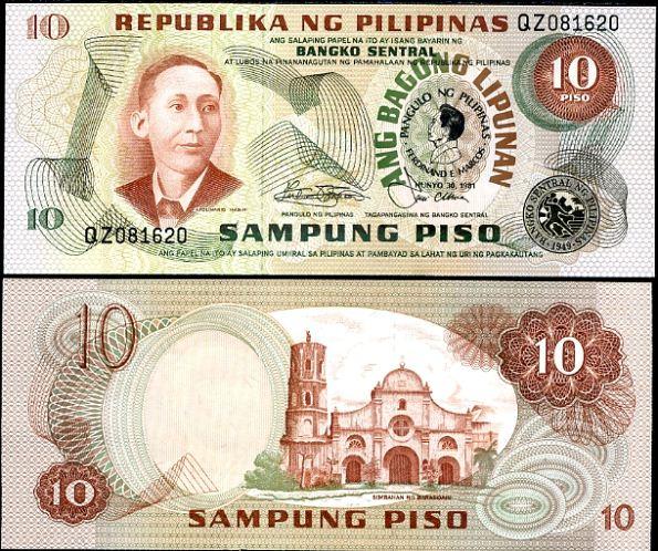 10 Piso Filipíny 1981, P167