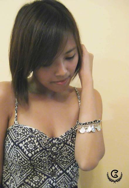 Velvet Entwined Charm Bracelet (model1)