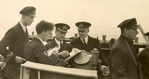 Capt JH Allison on bridge