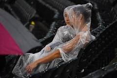 Wrapped in Plastic (Moments-of-Kodak) Tags: guaranteed rate field chicago il illinois white sox major league baseball mlb rain delay yankees twin peaks david lynch laura palmer