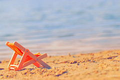 IMG_012142 - Some beach somewhere...... (Monique van Gompel) Tags: tinytoys smileonsaturday beachscape 7dwf tamronsp90mmf28dimacro11vcusd tamronsp90mm beach chair sun emptychair