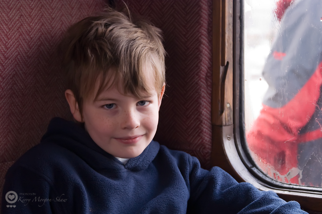 C on the train