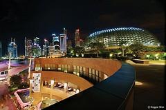 Durian shell. (Reggie Wan) Tags: urban building skyline night singapore asia southeastasia sony esplanade durian alpha soe marinabay sonya700 reggiewan
