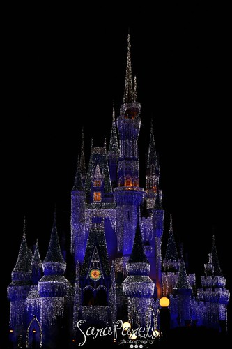 Cinderella's Castle at Christmas Time