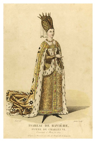 003-Isabel de Baviera esposa de Carlos VI-Galerie Française de femmes célèbres 1827- Louis Marie Lanté