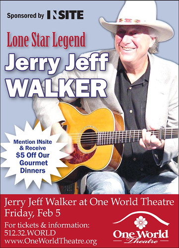 Jerry Jeff Walker @ One World Theatre