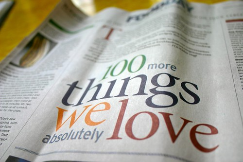 100 things we love