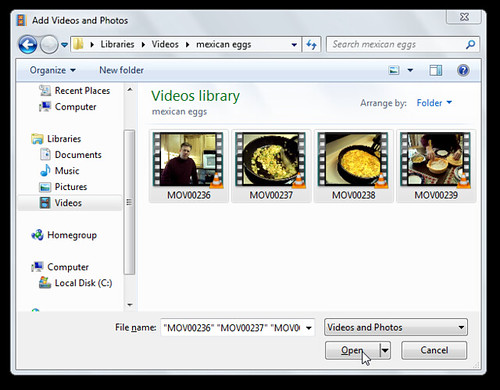 Add Photos and Videos to Windows Live Moviemaker