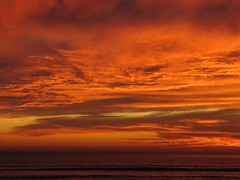 IMG_1785 (cycadr) Tags: ocean clouds lajolla pacificocean beachsunset fireinthesky sandiegosunset lajollasunset colorinthesky pacificoceansunset