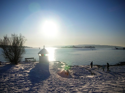 The Magic of extreme cold and snow at Oslo Fjord #5