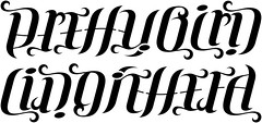 """Pretty Bird"" & ""Liddie Hefa"" Ambigram"