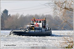 © • The ice-breaker ELSAVA on the river Main • Germany • (M.A.K.photo) Tags: germany deutschland nikon europe hessen ships main eisbrecher mainufer rivermain elsava flickrlovers nikonflickraward