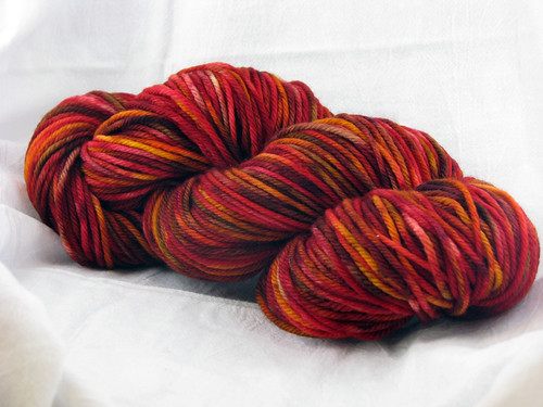 Red-multi SW worsted reskeined