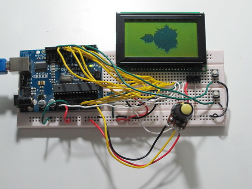 Arduino Mandelbrot Set Viewer