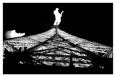 Tower (IIIDTMIII ) Tags: uk white snow black paris tower silhouette photography photo interestingness interesting photographer guitar style eiffel surrey co dennis dtm mccarthy sledge scanogram dennismccarthy iiidtmiii