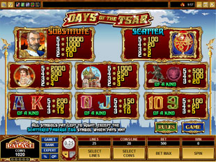 free Days of the Tsar slot mini symbol