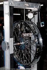 Lacing a wheel (ausmc_1) Tags: wheel spoke truingstand dialgauge