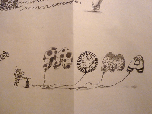 "Sketch of Digital Video ""Tim Burton MoMA Spot"" (2009) by navema."