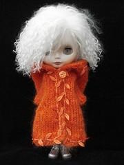 Orange leaves Winter Warmer Coat