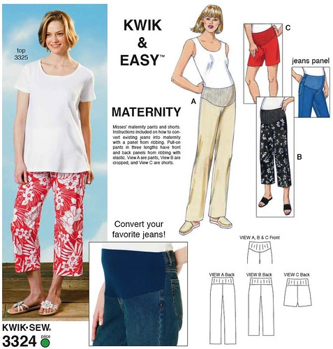 KwikSew 3324 maternity pants