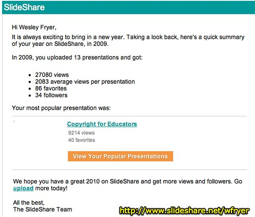 Your Year in 2009 on SlideShare