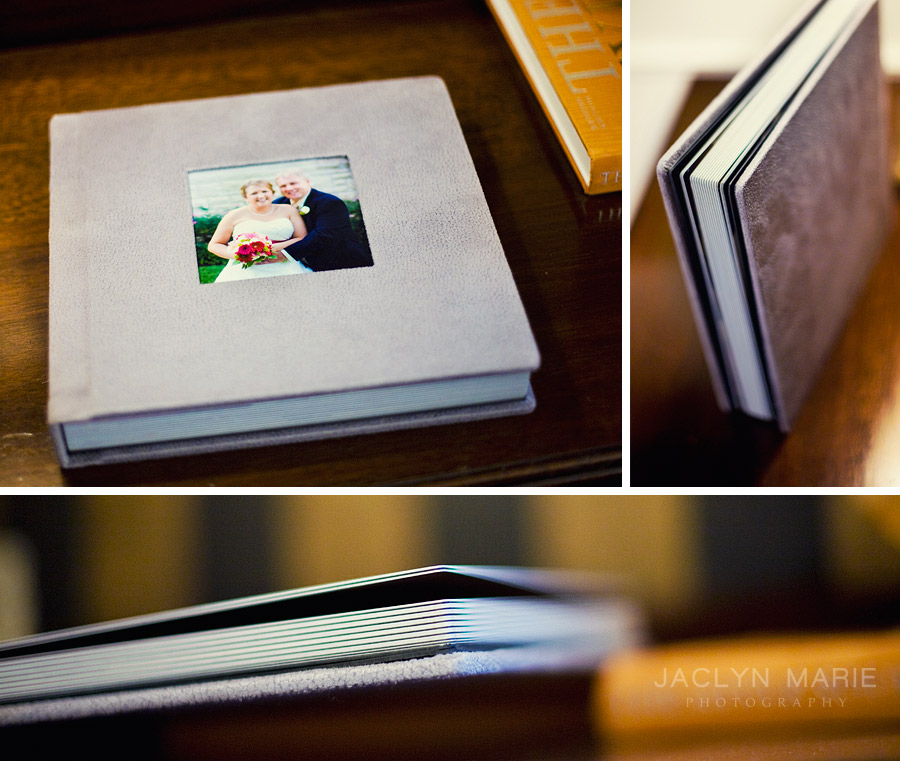 Modern Topeka wedding album book photo