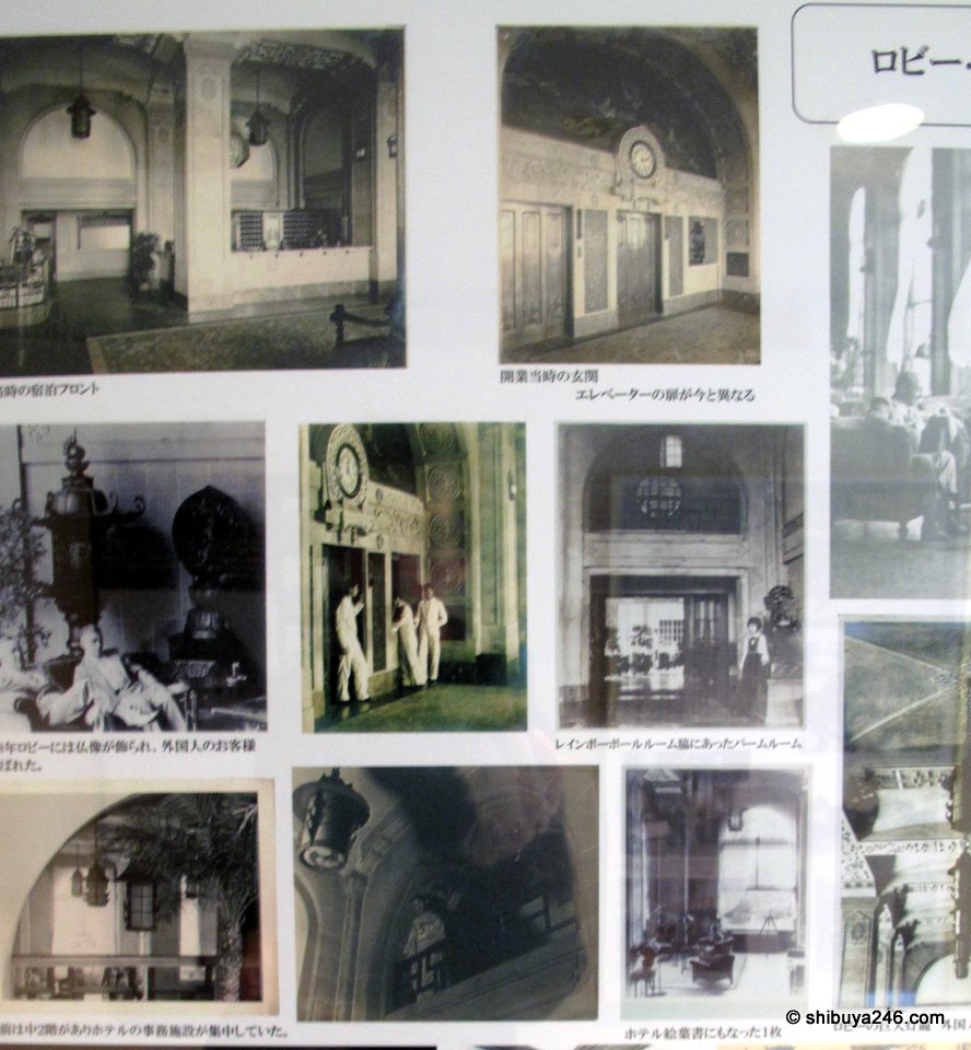 Some old photos showing the architecture of the hotel.