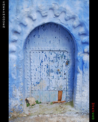 The battered blue door (Youssef Amaaou) Tags: blue morocco maroc marocco chaouen chefchaouen rif