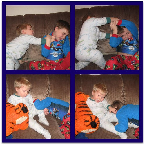 Brotherly tickle attack