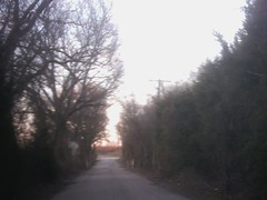 Old Mill Road, near McKinney, Texas, end of the afternoon