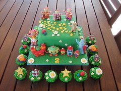 Mossy's masterpiece - In The Night Garden Cake with the Ninky Nonk. (Mossy's Masterpiece cake/cupcake designs) Tags: cake night cupcake arden ninkynonk igglepiggle