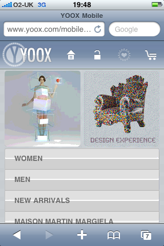 Yoox mobile