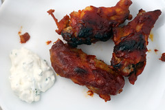 bourbon glazed wings