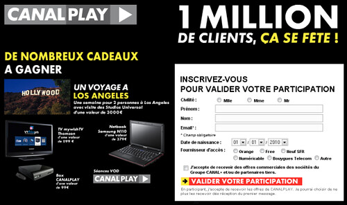 jeux concours canalplay