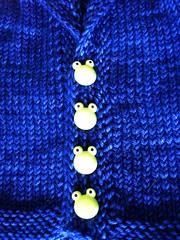 Babyblue 3 (zoxozo) Tags: blue baby sweater knitting buttons frog lapis madelinetosh
