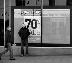 Why am I here? (Pollylop) Tags: man window shop reflections sale walker 70off opticians 2daystogo extra50off snaicitpo mobformat11shoot