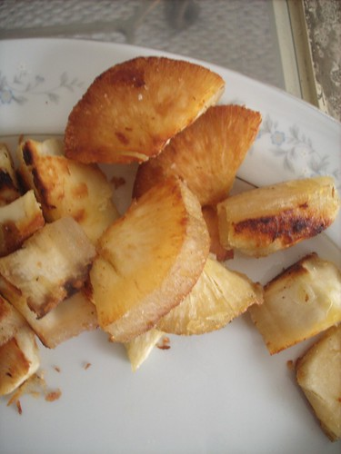 Fried Yucca Pieces