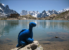 lac blanc, chamonix, france (steg the dinosaur) Tags: blue lake alps french dinosaur savoie steg lacblanc chamonixaiguilles alpsfrancemountainhaute