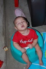 Fell asleep in the Bumbo... (shelled) Tags: keegan