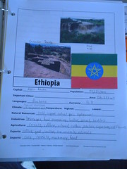 Ethiopia notebook page