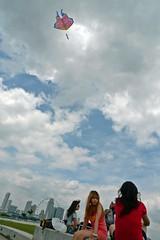 Kite & the Blue Sky (sieyen) Tags: kite marinabarrage