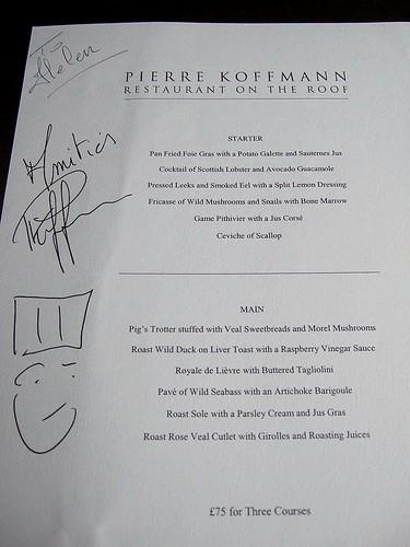 Koffmann menu