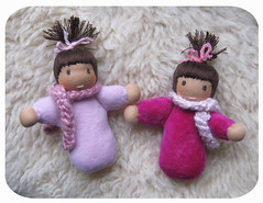 2-pink-babies (Polar Bear Creations Dolls) Tags: baby wool children toy education toddler infant doll natural waldorf girldoll boydoll dressupdoll waldorfdoll rudolfsteiner clothdoll childfriendly anthroposophie pocketbaby steinerdoll waldorfdolls minibaby earlychildhoodlearning waldorftoy cuddledoll companiondoll waldorfpedagogy