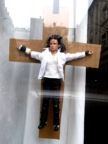 Michael Jackson crucified in Paris
