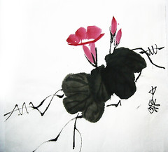 A18 (Master Fine Art Cheung) Tags: painting chinese calligraphy fusion waterart colorart whitepainting