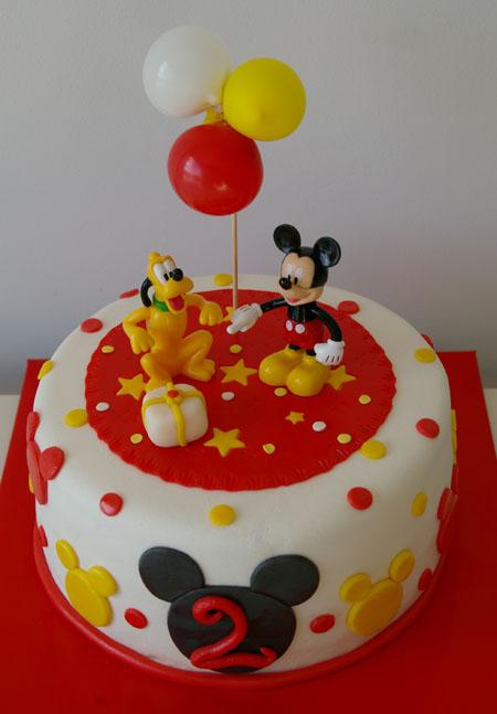 tartas y nubes de azúcar: Tarta Mickey Mouse
