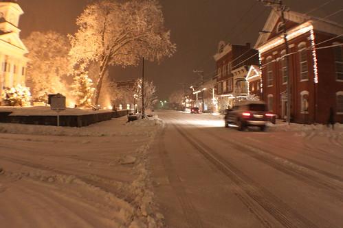 German Street around 7 or 8 p.m.