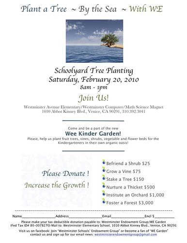 tree planting flyer