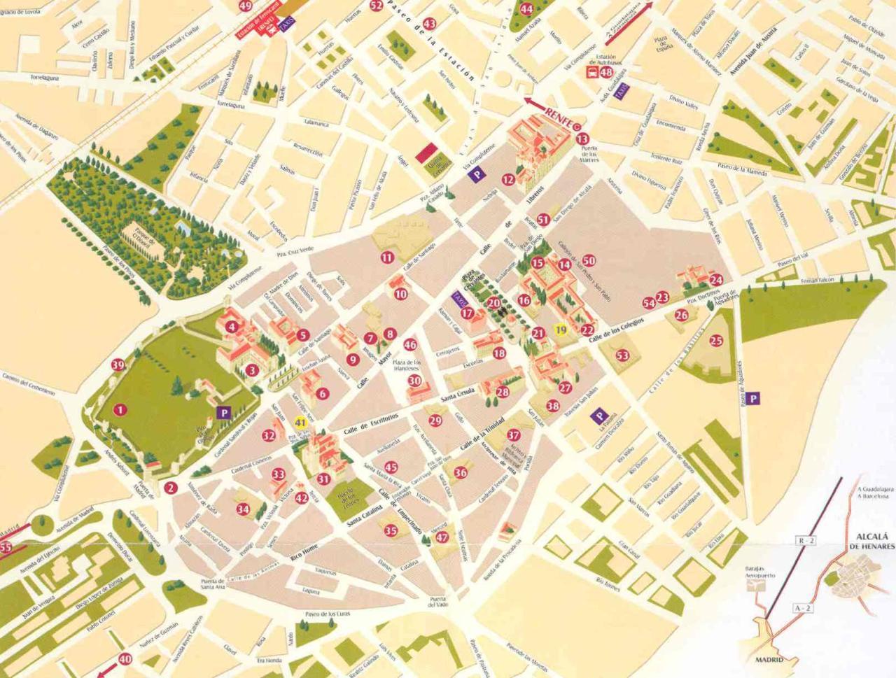 mapa alcala de henares